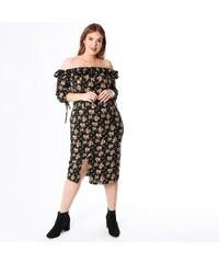 8633ffbdd17b KOKO BY KOKO Φλοράλ έξωμο φόρεμα