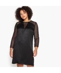 4ac1884604bc CASTALUNA Βελούδινο φόρεμα με δαντέλα σε ίσια γραμμή - Glami.gr