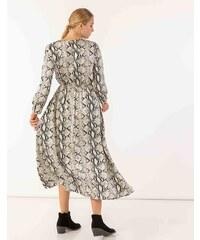 3c3587405a6f Issue Fashion Maxi snake print φόρεμα με μακριά μανίκια και λάστιχο στη μέση