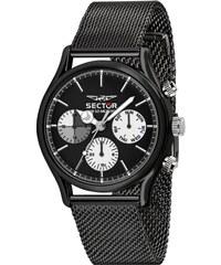 Ρολόι Sector 660 πολλαπλών ενδείξεων με μαύρο μπρασελέ R3253517003 94d08e7c987