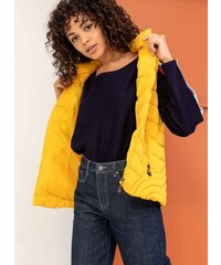 The Fashion Project Αμάνικο καπιτονέ μπουφάν με κουκούλα - Κίτρινο -  05847015004 7e273c63a5b