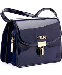 Τσάντα χιαστι λουστρίνι Verde 16-4922-Blue 16-4922-Blue 5bcb0c8e48e