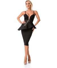 RO FASHION 9231 RO Μίντι ελαστικό λύκρα φόρεμα με κέντημα στη πλάτη ... d96151d05ea