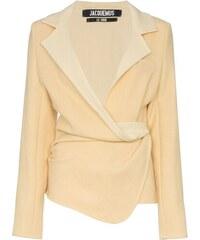 Jacquemus wrap blazer jacket - Yellow 888a3f5e239