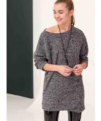 The Fashion Project Πλεκτό casual mini φόρεμα με κολιέ - Γκρι - 001 dc4a7116d03