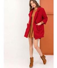 The Fashion Project Παλτό από οικολογικό sheepskin - Μπορντό - 001 f8a96b7744d