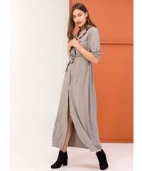 The Fashion Project Maxi φόρεμα πουκάμισο - Γκρί - 05727027001 c18c564bf96