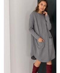 The Fashion Project Midi φόρεμα με σχέδιο κουμπιά στην πλάτη - Γκρι - 010 eb3eec51c86