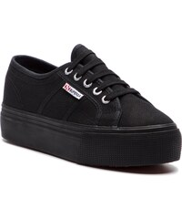 43a59c651d5 Πάνινα παπούτσια SUPERGA - 2790 Cotw Linea Up And Down S0001L0 Full Black  996