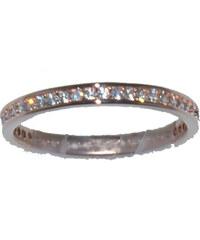 Ασημένιο δαχτυλίδι DS RG003 R σε rose χρώμα και λευκά ζιργκόν έως 6 άτοκες 7d470bab916