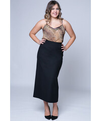 Happysizes Midi pencil μαύρη ελαστική φούστα - Glami.gr 64bc00fdc81