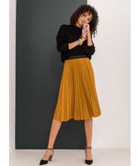 The Fashion Project Πλισέ midi φούστα με λάστιχο στη μέση - Μουσταρδί - 001 98b4c607b63