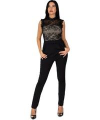 Ολόσωμη φόρμα Miss Si με δαντέλα - ΑΣΠΡΟ 109-1070 2eff9c487d0