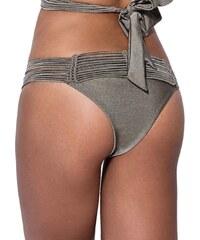 Μαγιό Bluepoint Brazilian Bikini Μεταλιζέ Full Glitz - Πλεχτό Σχέδιο fd9f4139307