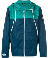 The North Face colour block hooded windbreaker jacket - Blue a735168fe92