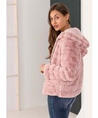 The Fashion Project Αμάνικο jacket από οικολογική γούνα - Nude - 012 ... f94026ba233