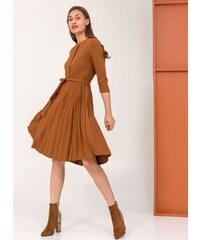 6d0fd6199781 The Fashion Project Πλισέ φόρεμα με πιέτα στο μπούστο - Ταμπά - 001