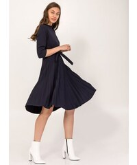 The Fashion Project Φόρεμα πλισέ με κουμπιά στον ώμο - Μπλε σκούρο - 001 4bfc1173e29