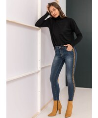 The Fashion Project Skinny jeans με leopard ρίγα στο πλάι - Μπλε jean -  06126024003 63a44b1c63f