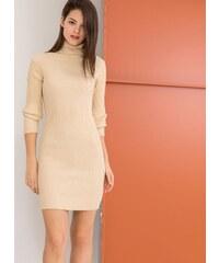 4f2b3c06235 The Fashion Project Mini ριπ φόρεμα με γυαλιστερή κλωστή στην πλέξη - Μπεζ  - 001