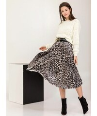 The Fashion Project Πλισέ βελουτέ leopard φούστα - Leopard - 001 b41184ce606