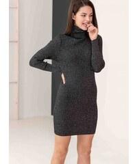 The Fashion Project Mini ριπ φόρεμα με γυαλιστερή κλωστή στην πλέξη - Μαύρο  - 06138002001 d5d1bfa3e56