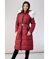 The Fashion Project Βελουτέ καπιτονέ μεσάτο μπουφάν - Μπορντό - 007 ... 7013d44d3a5