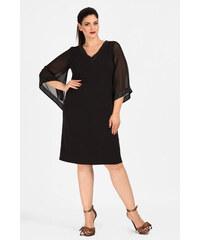 Dina XL Αμπιγιέ φόρεμα μίντι με μανίκια από μουσελίνα. 9d5384dd246