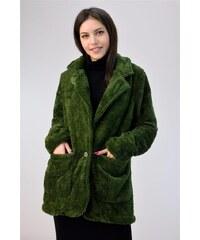 The Fashion Project Παλτό από οικολογική γούνα - Μουσταρδί - 001 ... f2c409df0bf