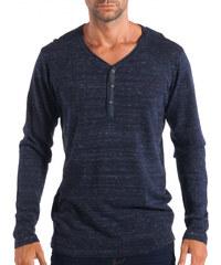 120b35d6f7c3 Ανδρικό μπλε πουλόβερ με κομπιά V-neck House