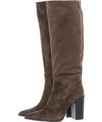 Mortoglou Γυναικείες Μπότες 1041 Πούρο ECOsuede 7db08e905d3