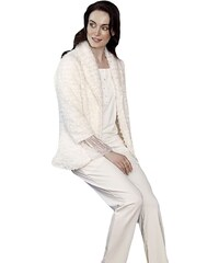 FMS Γυναικεία Πυτζάμα-Ζακέτα Λευκό 9749fb2be46