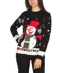 e8ffbd277681 OEM Γυναικείο χριστουγεννιάτικο πουλόβερ Snow man i love
