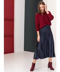 The Fashion Project Σατέν πλισέ midi φούστα - Μπλε σκούρο - 001 3a0e54e1d91