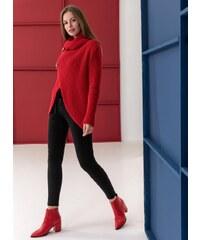 The Fashion Project Πλεκτό με διακοσμητικά κουμπιά - Κόκκινο - 001 293ec52ae3b