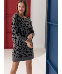 The Fashion Project Μακρύ πλεκτό με pattern - Ανθρακί - 001 382a8bca4aa