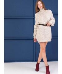 7d6871840c0 The Fashion Project Μακρύ πουλόβερ με σχέδιο στην πλέξη - Μπεζ - 001