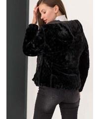 The Fashion Project Μπουφάν διπλής όψης με οικολογική γούνα - Μαύρο - 004 a241995811e