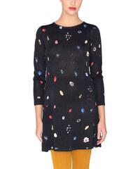 The Fashion Project Λεπτό πλεκτό φόρεμα με κασκολ κρόσσια - Μαύρο ... a547cd92f33