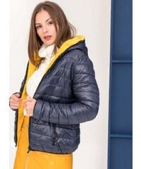 4a9fe5b061f The Fashion Project Μπουφάν διπλής όψης με διχρωμία - Μπλε σκούρο -  06195023004
