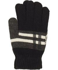 PGaccessories Πλεκτά γάντια μαύρα με κοντράστ σχέδιο f75ae2749b2