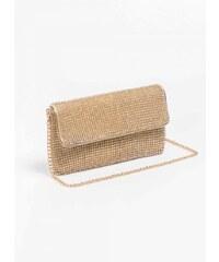 The Fashion Project Βραδινή τσάντα με strass - Χρυσό - 06265009009 ca232f97ab2