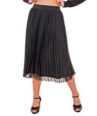 f0a68c207b3c RAVE Μαύρη πλισέ φούστα - 52-56