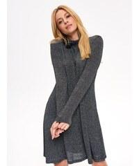 8d59330a9ef5 The Fashion Project Πλεκτό φόρεμα με μεγάλο ζιβάγκο - Ίντιγκο - 001 ...