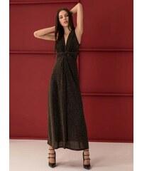 059867432ad The Fashion Project Αμάνικο maxi γυαλιστερό φόρεμα - Χρυσό - 001