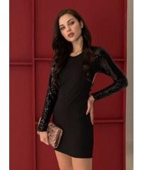 The Fashion Project Βραδινό φόρεμα με λεπτομέρεια παγιέτες - Μαύρο - 001 881f0eeb873
