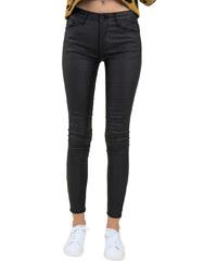 5acd398d2c Huxley   Grace Γυναικείο μαύρο ελαστικό παντελόνι όψη δερματίνης CY125