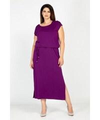 27b45a1f9f53 Parabita Maxi βισκόζ φόρεμα με ζωνάκι και ρέλια στην πλάτη