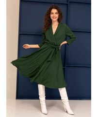The Fashion Project Midi φόρεμα κρουαζέ σε άλφα γραμμή - Κυπαρισσί - 001 d427987b758