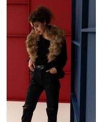 The Fashion Project Biker jacket με γούνινη επένδυση - Μαύρο - 06320002004 f46e68b83a0